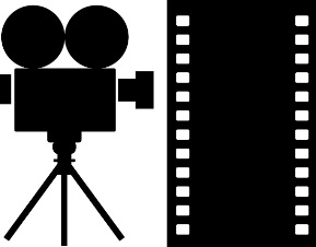 video camera icon white